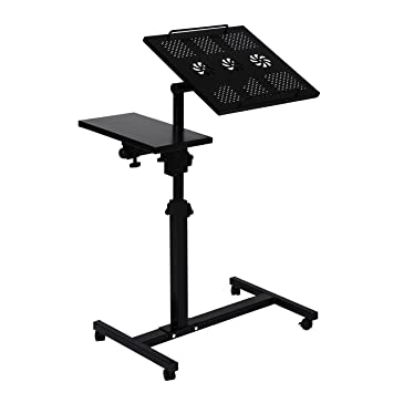 unicoo height adjustable laptop cart laptop notebook stand over sofa bed table stand black