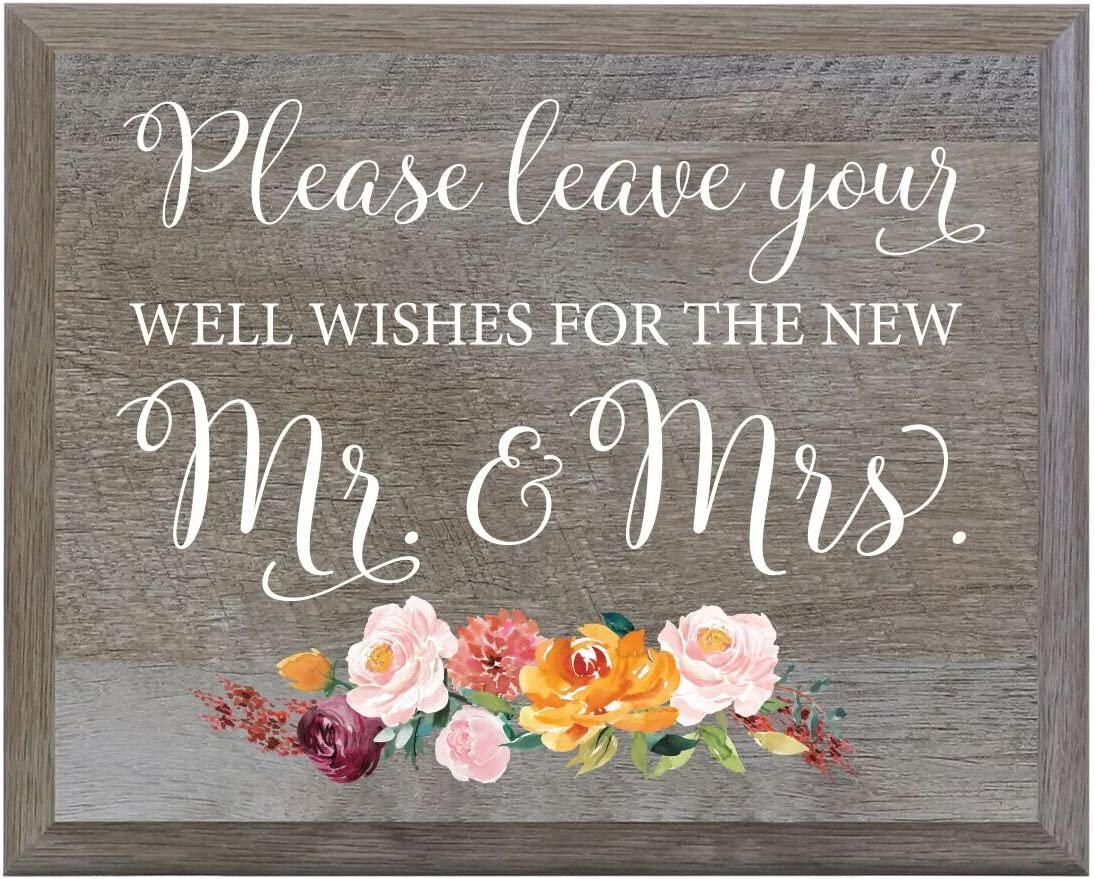 LifeSong Milestones Heaven Wasnt so far Away Decorative Wedding Party Sign for Ceremony and Reception for Bride and Groom 6x8