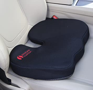 Posture Cushion Coccyx Seat Lumbar Support Cushion with Soft Memory ...
