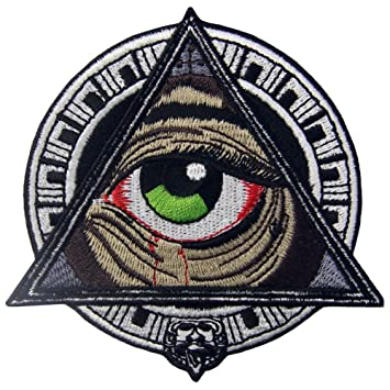 Mayan Geometric Patterns All Seeing Blooding Eye Patch Embroidered