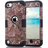 iPod Touch 6th Generation Camouflage Case, Hocase Heavy Duty Shockproof Hybrid Silicone Rubber Bumper+Hard Shell Protective Case for iPod Touch 5th/6th Generation - Camo/Black