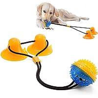HH HHAO SPORT Tug of War Dog Toy Ventosa, doble ventosa para limpieza de dientes, juguete interactivo para perro con 2…