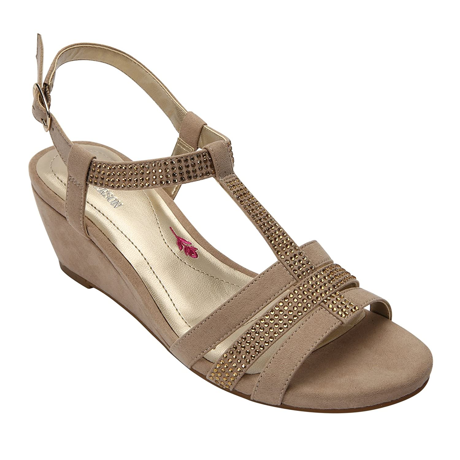 Ros Hommerson Women's Whitney Leather Sandals B01CQUEHC8 8.5 B(M) US|Sand