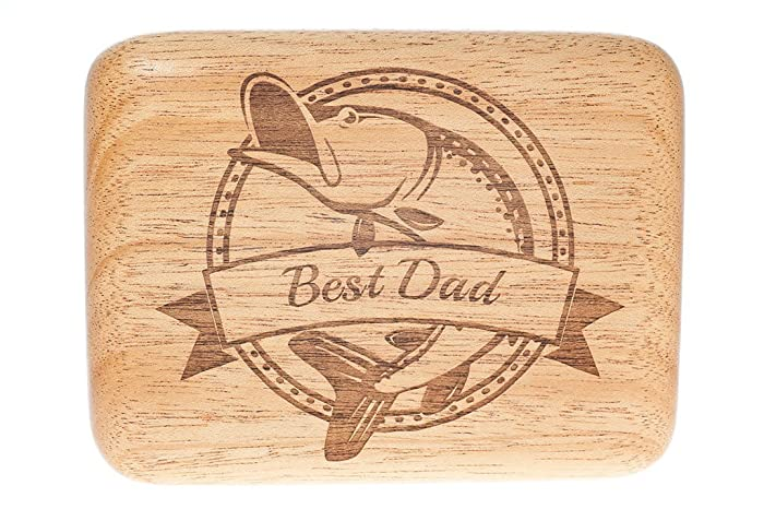 hardwood fly fishing box personalized fishing lure box gift for fathers day birthday
