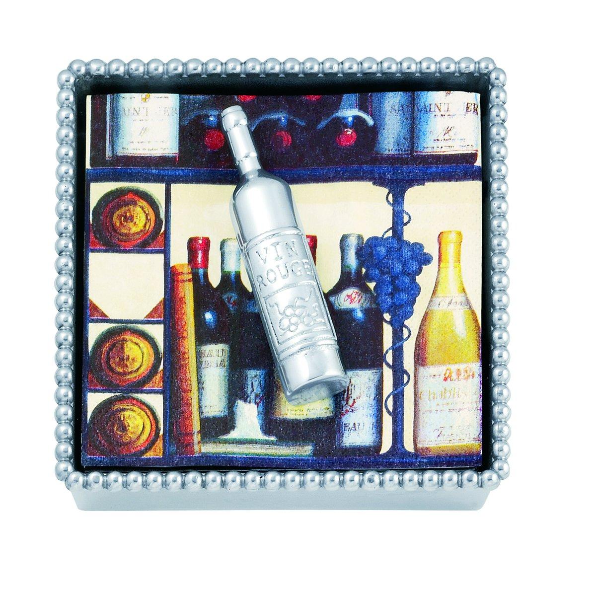 Mariposa Wine Bottle Beaded Napkin Box by MARIPOSA