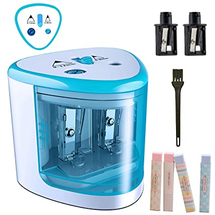 amazon com tenwin electric pencil sharpener battery powered high