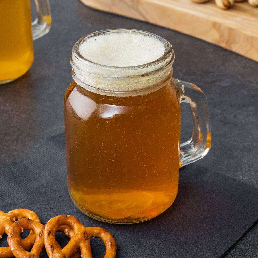 AVGDeals 48 CASE 4.75 Oz MINI Glass Mason Canning Drinking Jar with Handle Wedding Small   Perfect for serving craft beer, creative cocktail flights, desserts, appetizers, and lemonade