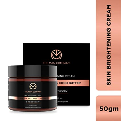 e29157e3357 The Man Company Skin Brightening Cream Multani Mitti and Coco Butter, 50 g