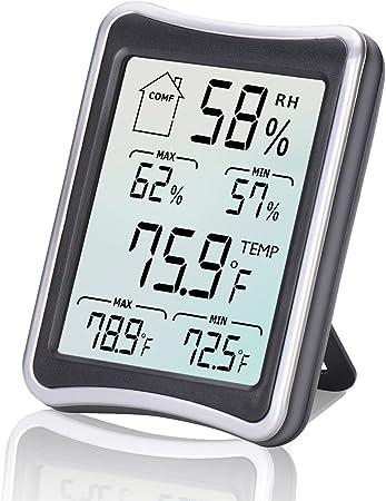 Thermomètre Hygromètre Intérieur, E2Buy® Thermomètre interieur numérique à écran LCD intérieur, Hygrothermographe numérique, moniteur de température