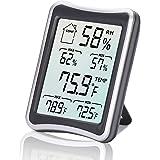 Thermomètre Hygromètre Intérieur, E2Buy® Thermomètre interieur numérique à écran LCD intérieur, Hygrothermographe numérique, moniteur de température et d'humidité avec enregistrements MIN / MAX