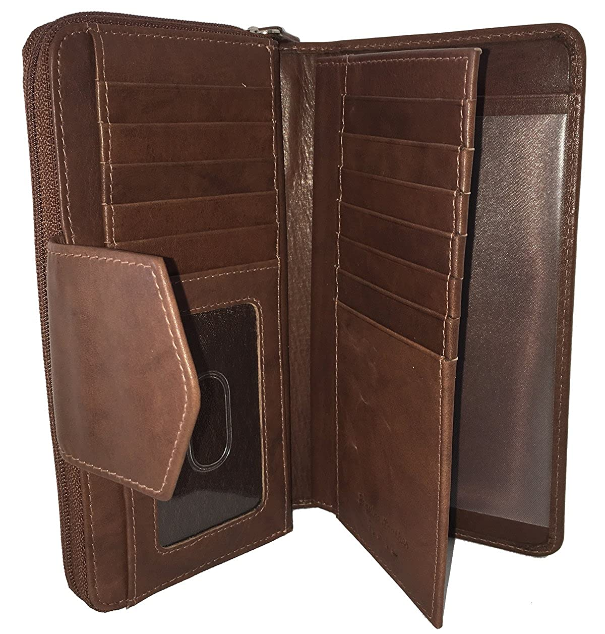 RFID Leather Checkbook Wallet