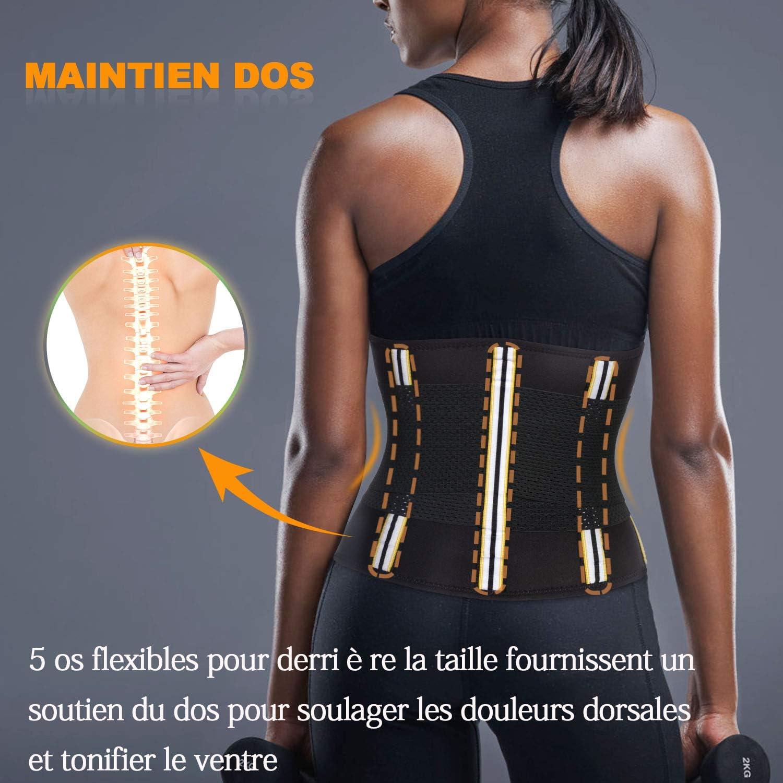 Gaine de Sudation Sauna Sport Ceinture Abdominale Femme Minceur Waist Trainer Amincissante Ventre Plat