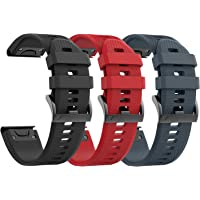 ancool Garmin Fenix 5Banda Easy Fit 22mm Ancho Silicona Reloj Correa para Garmin Fenix 5
