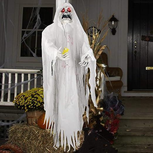 5.5ft Hanging Grim Reaper Halloween Skeleton Hanging Ghost Outdoor Yard Decor