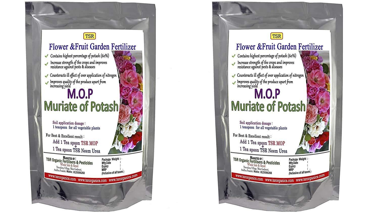 TSR Organic Fertilisers & Pesticides MOP Muriate of Multi Purpose Fertilizer Potash 60% (850+850 g)