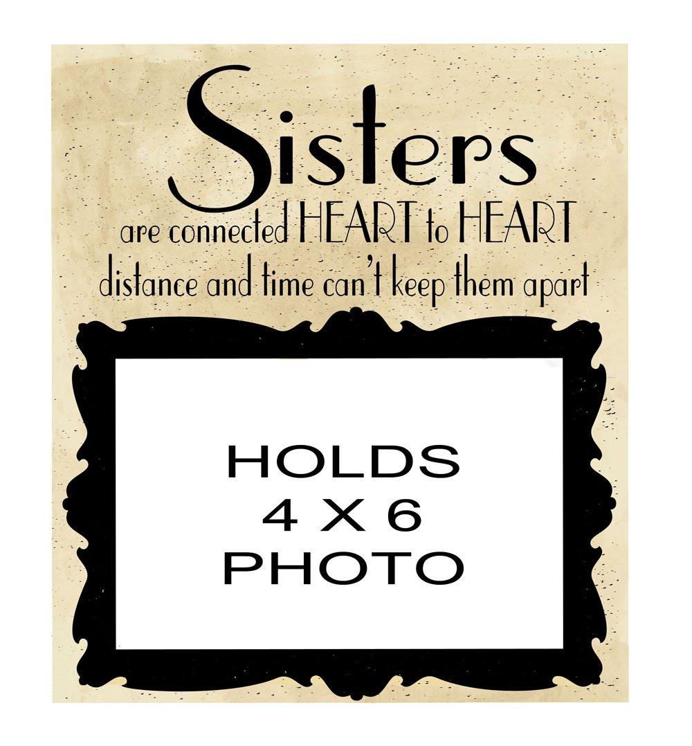 Ohio Wholesale Sister's Stoneware Frame Wall Art, Everyday Collection