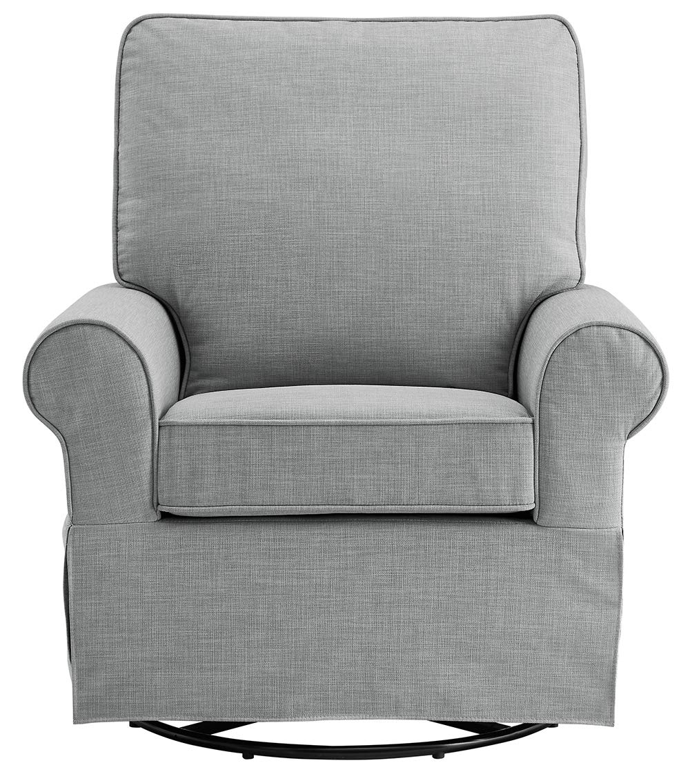 Angel Line Natalie Upholstered Swivel Glider Dark Grey
