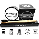 Diamond Labs | Premium Activated Carbon Coconut Charcoal Teeth Whitening Kit | (2oz) All Natural Formula | Includes FREE Bamboo Toothbrush + FREE Downloadable E-Book | Mint Flavor