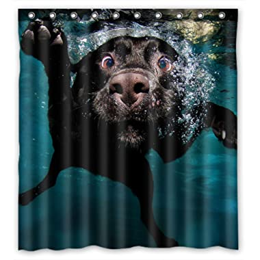 FMSHPON Popular Funny Lovely Labrador Dog Polyester Waterproof Shower Curtain 60 x 72 Inches
