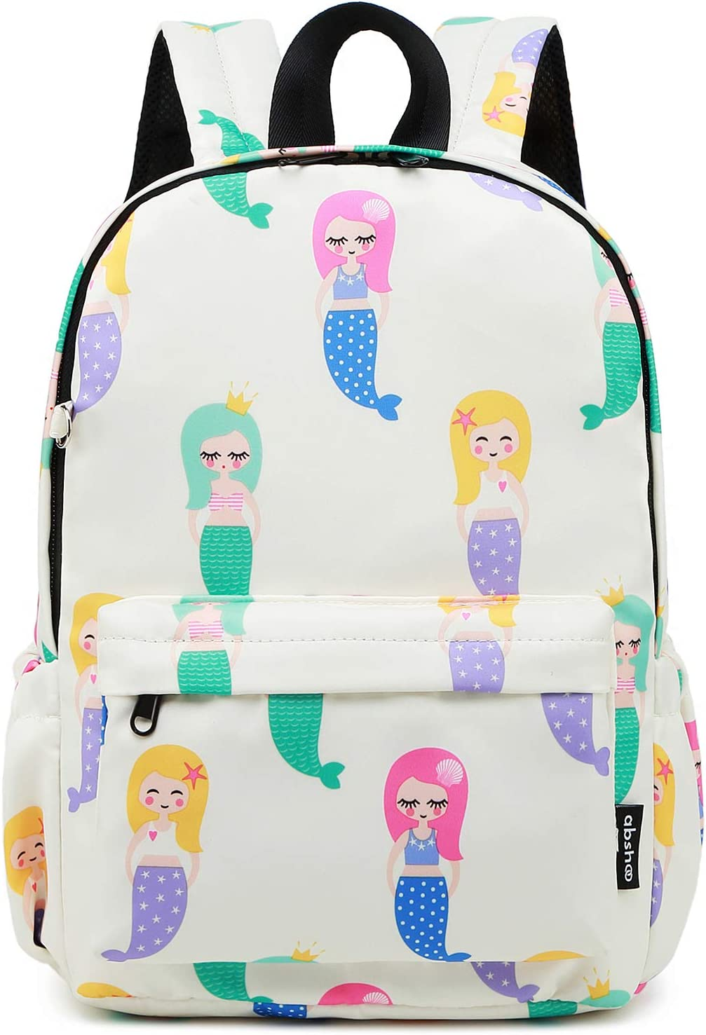 Abshoo Little Kids Mermaid Toddler Backpacks for Girls Preschool Backpack With Chest Strap (Mermaid Beige)