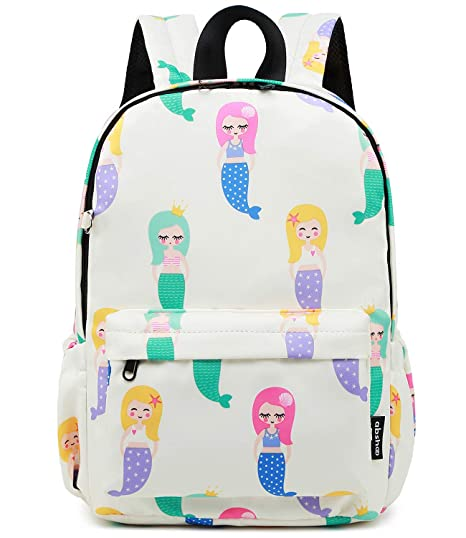 43a74295de94 Amazon.com  Abshoo Little Kids Backpacks for Boys and Girls Preschool  Backpack With Chest Strap (Mermaid Beige)  Abshoo