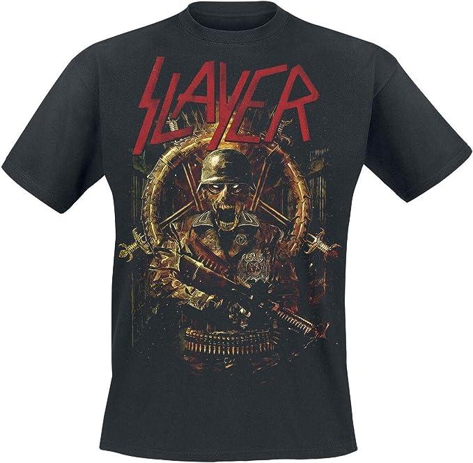 Slayer Comic Book Cover T-Shirt Manches Courtes Noir