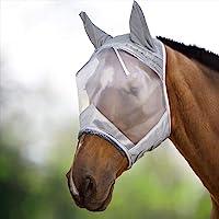 Harrison Howard CareMaster Máscara Anti-Moscas Protección con Orejas Plata