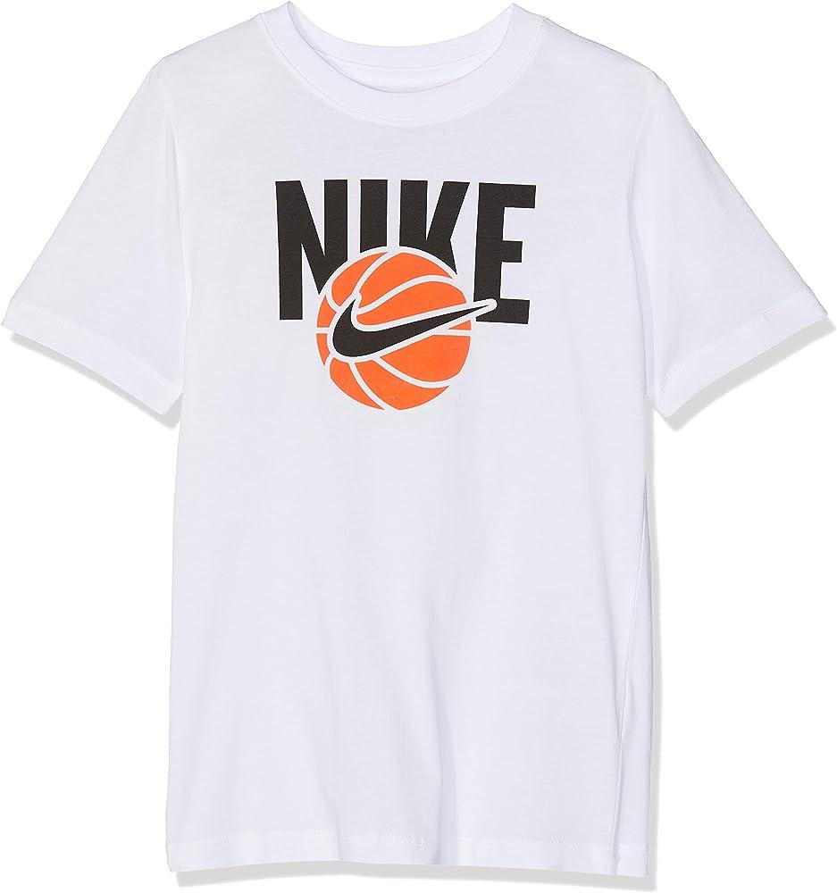 NIKE B NSW Basketball Camiseta, Niños, Blanco, S: Amazon.es: Ropa y accesorios