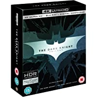The Dark Knight Trilogy: Batman Begins + The Dark Knight + The Dark Knight Rises (4K UHD + Blu-ray + Bonus Disc + Digital Download) (9-Disc Box Set) (Region Free + Slipcase Packaging + Fully Packaged Import)