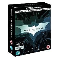 The Dark Knight Trilogy: Batman Begins + The Dark Knight + The Dark Knight Rises (4K UHD + Blu-ray + Digital Download) (9-Disc Box Set) (Region Free + Slipcase Packaging + Fully Packaged Import)
