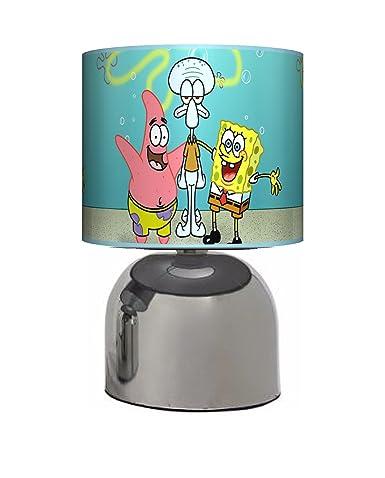 Spongebob bedside touch lamp girls boys bedroom light lamp spongebob bedside touch lamp girls boys bedroom light lamp shade mains aloadofball Choice Image