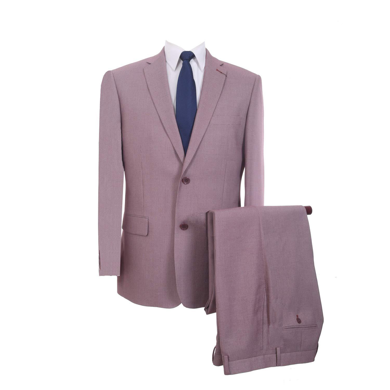 P&L Men's Classic Fit Two Button Suit Jacket & Flat-Front Pants Set