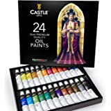 Castle Art Supplies Oil Paint Set - 24 Vibrant Colors in Tubes - Excellent Value Supplies with Beautiful Saturation and…
