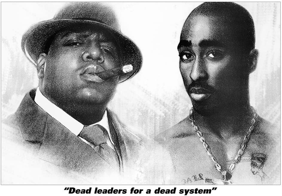 "RAP LEGENDS Poster Print Best RAPPERS 2pac Nas Biggie Andre 24""x36"" Size NEW"
