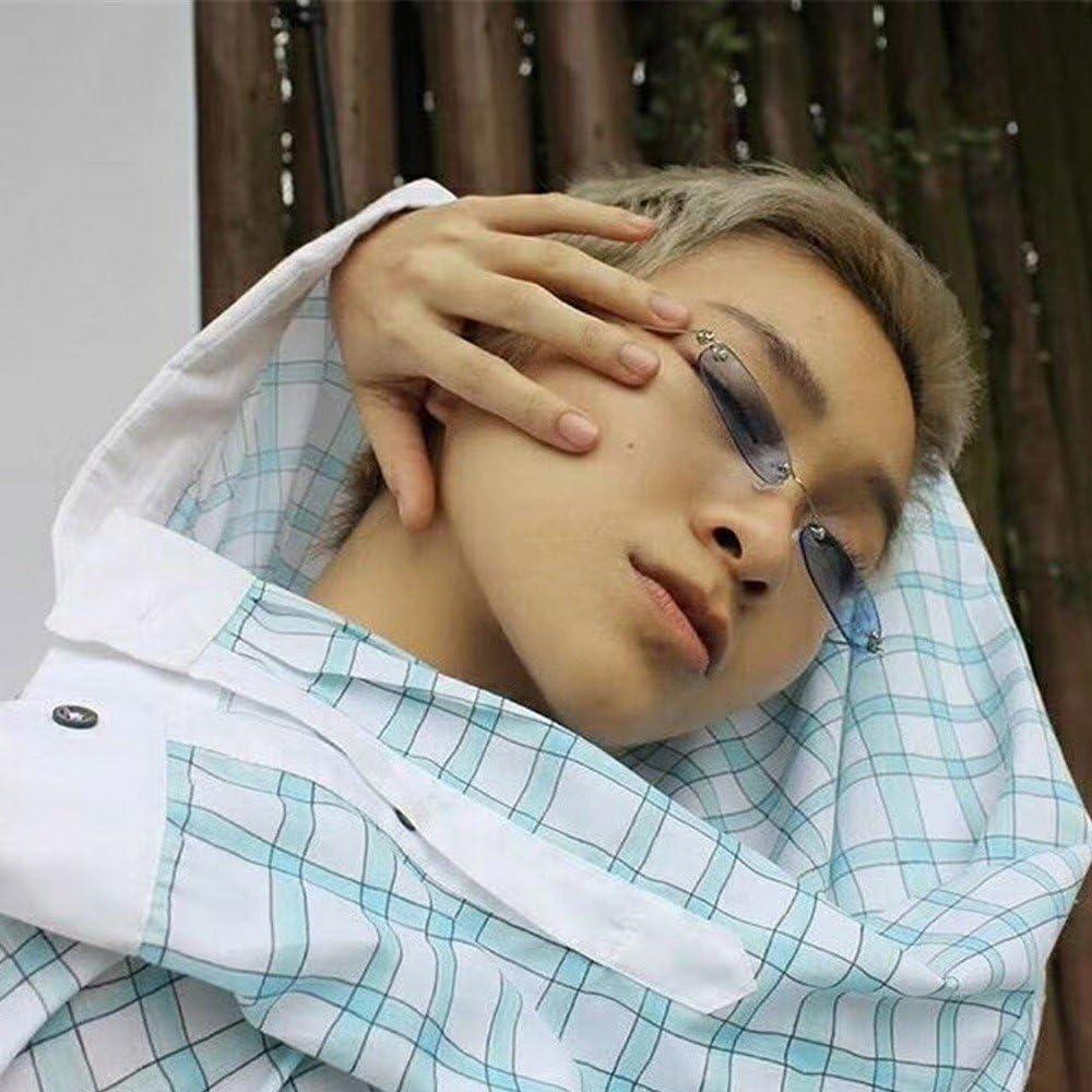 MERICALe donne uomo Vintage trasparente Piccola Struttura retro occhiali da sole Eyewear Fashion