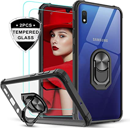LeYi Funda Samsung Galaxy A10 con [2-Unidades] Cristal Vidrio ...