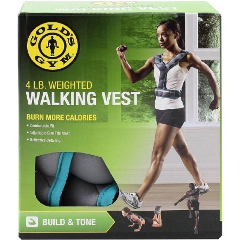 Gold's Gym Weighted Walking Exercise Vest 4 lbs