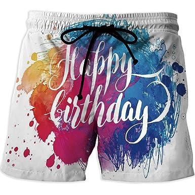 Amazon Com Design Elastic Waist Men Boardshorts Birthday