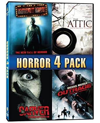 Horror 4 Pack Midnight Movie The Attic Carver Outrage