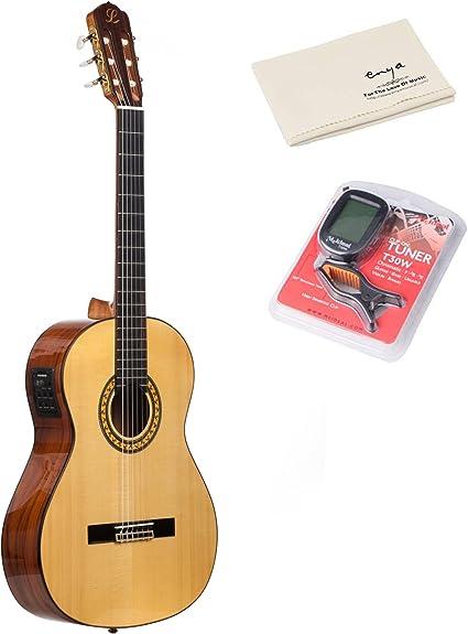 Lavida l109s guitarra electroacústica (cuerdas de nailon guitarra ...
