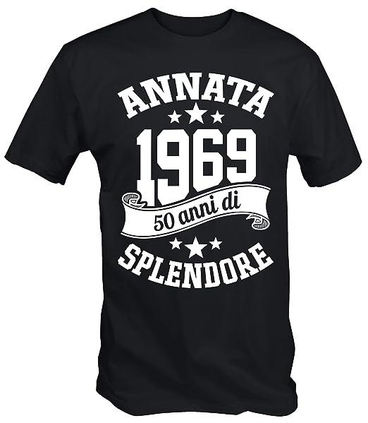 6TN Uomo Realizzato nel 1969 50 Anni di Stupenda Maglietta del 50 °  Compleanno  Amazon.it  Abbigliamento 6de929e3334