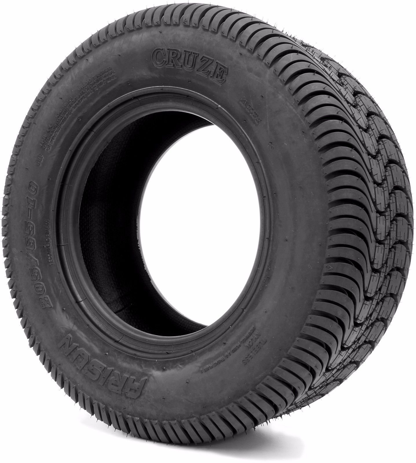 Arisun 205/65-10 DOT Street Tires for EZGO, Club Car, Yamaha Golf Carts (205/65-10, 1 Individual Tire)