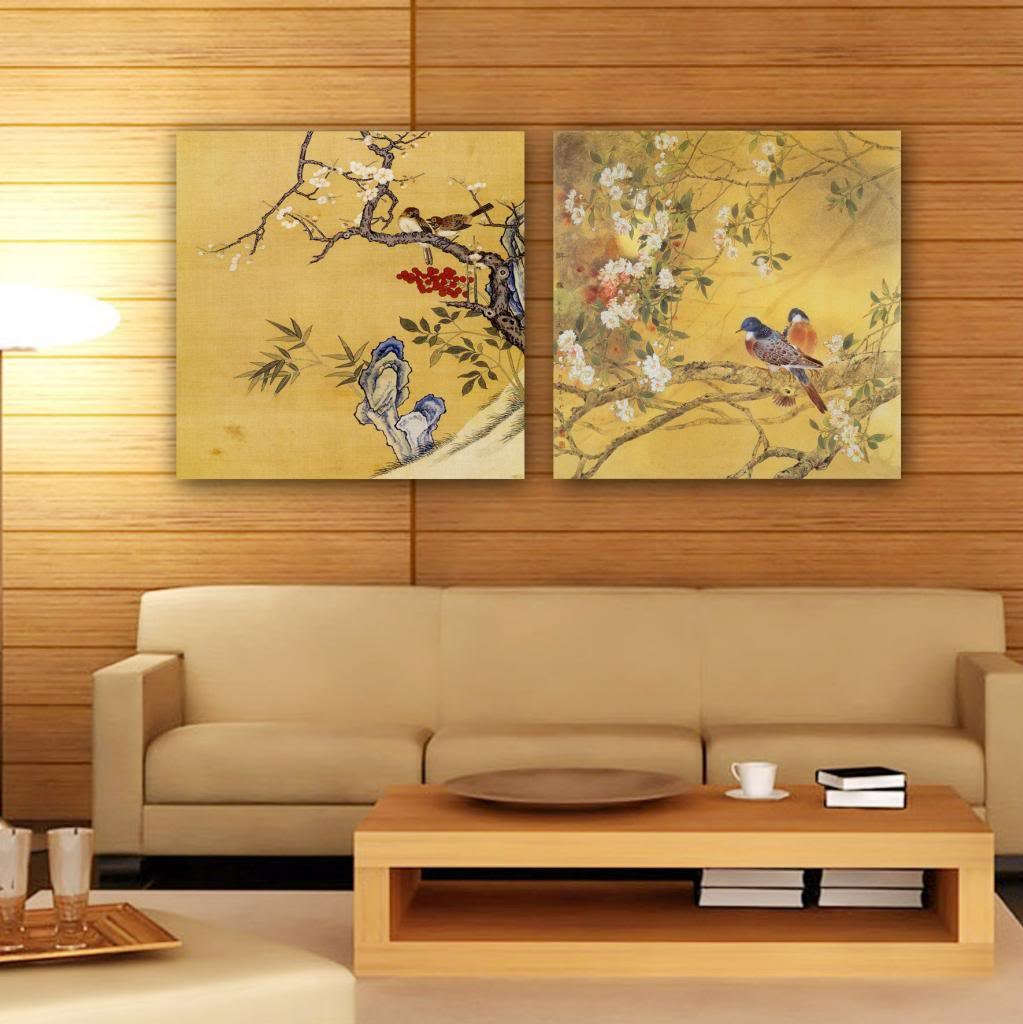 Gallery Canvas Art 2 Piece Canvas Prints Traditional Chinese Painting Split  Canvas Picture Of Art