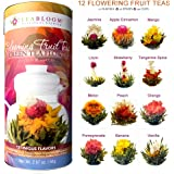 Teabloom Fruit Flowering Tea - 12 Assorted Fruit Blooming Tea Flowers Gift Set