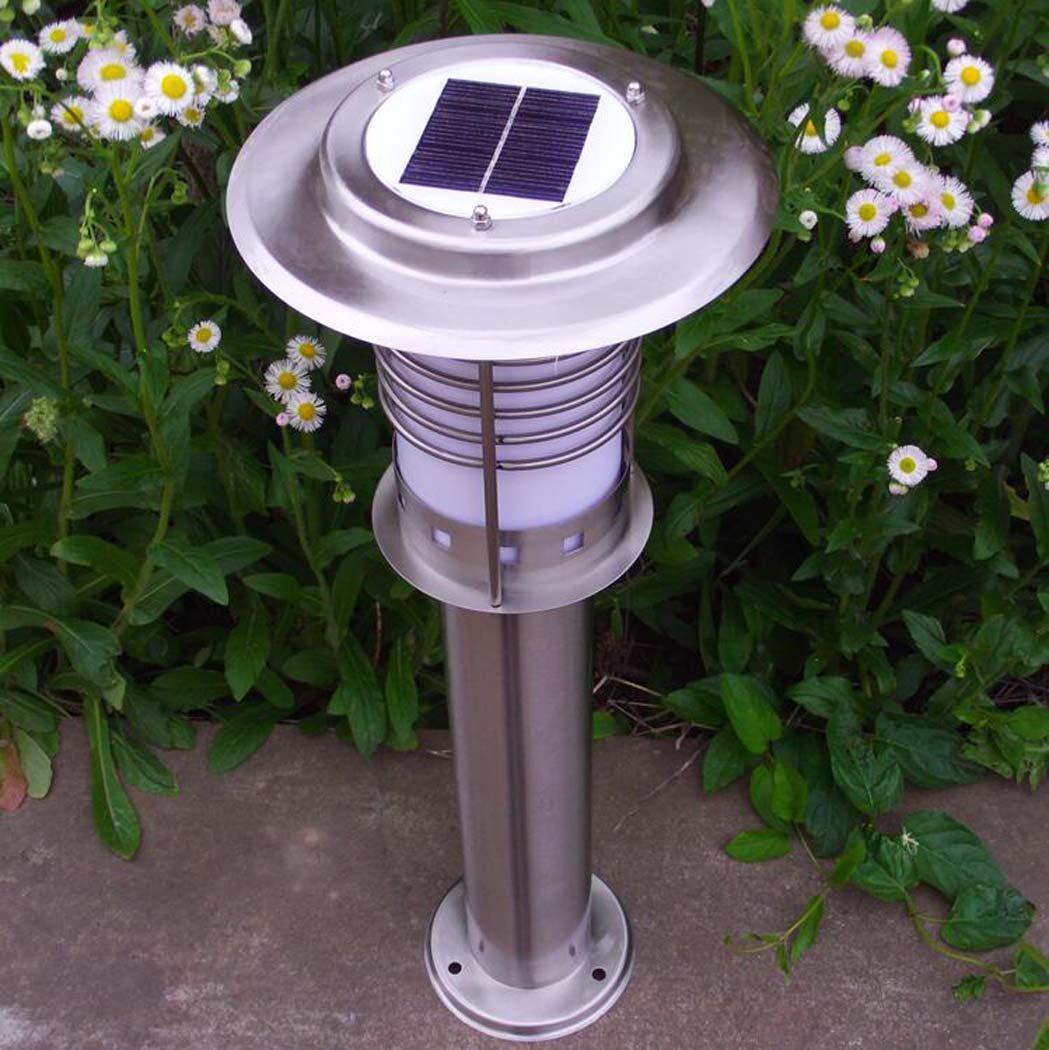 ソーラー芝生ライト、屋外ホームIP65防水LEDライト、ステンレススチールスーパー明るいソーラーガーデンライト、パティオ、芝生、庭、歩道、簡単にインストールするワイヤーなし B07DNDGL2K