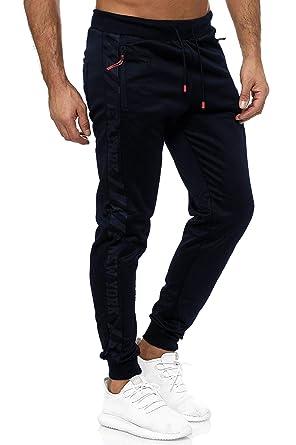 EGOMAXX Pantalones de chándal a Rayas para Hombre Pantalones de ...