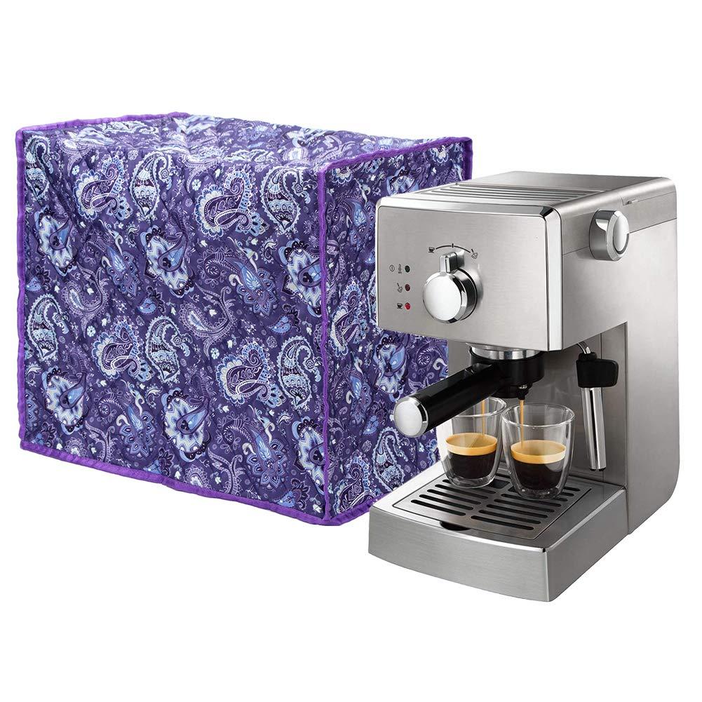 Universal Coffee Maker Cover, 17'' x 11'' x 15'', Fashion Printing Espresso Machines Dust Cover, Kitchen Appliance Accessories Cover JJZ106