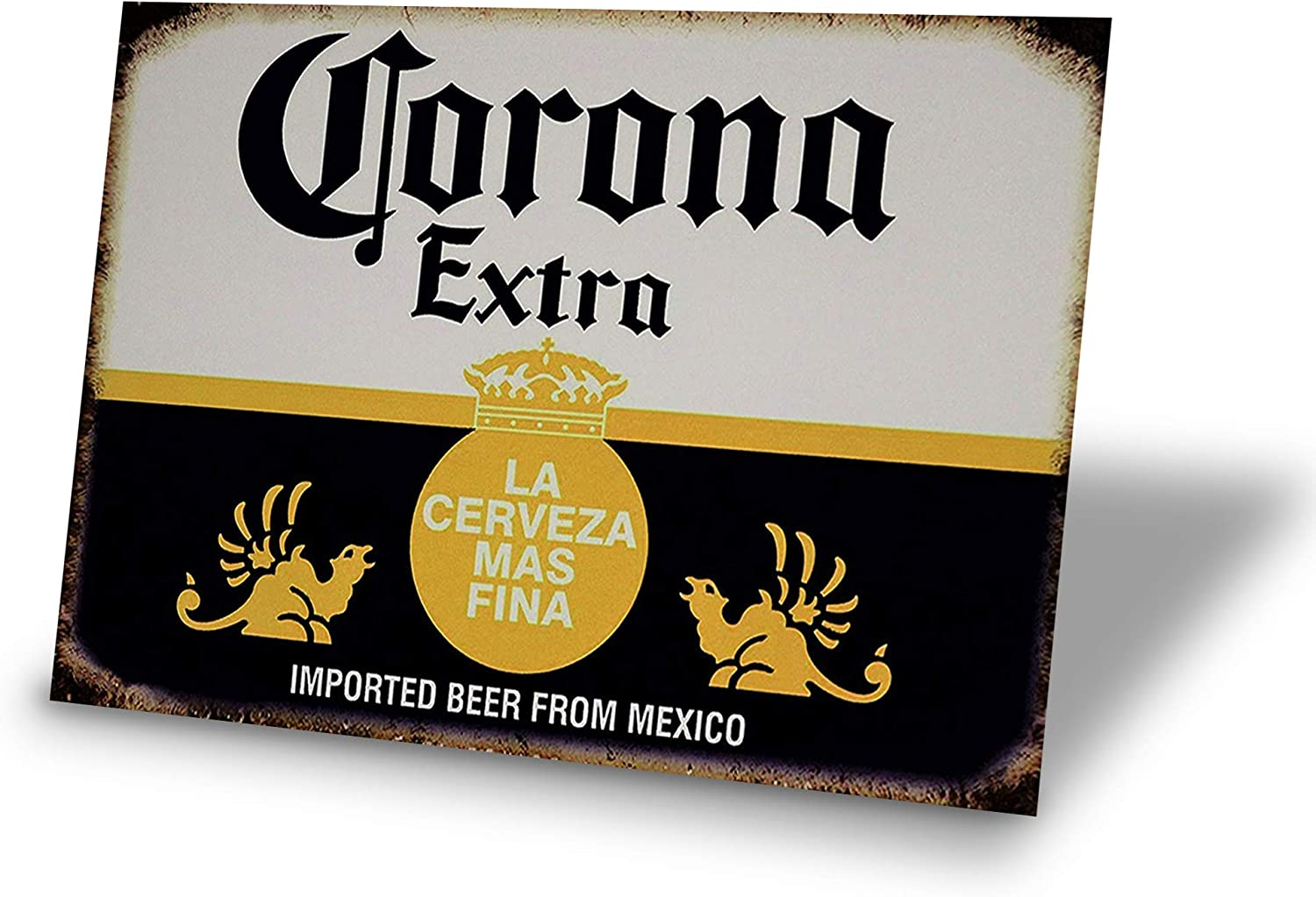 TINSIGNS Corona Extra Beer Man Cave Decor Metal Sign Alcohol Home Party Bar Retro Vintage Signs 8x12 Inch