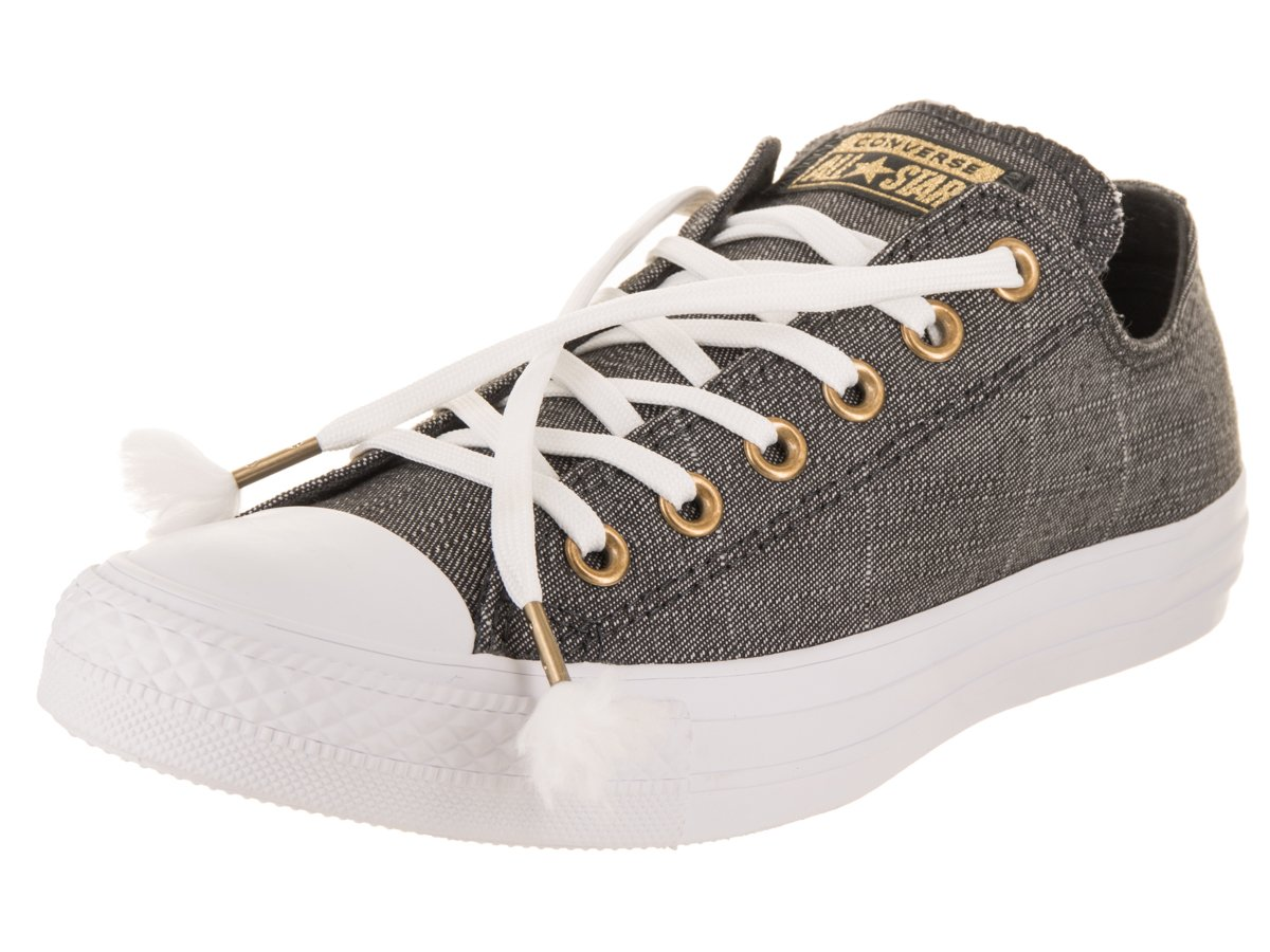 Converse Women's Chuck Taylor All Star Ox Casual Shoe 8.5 B(M) US|Almost Black/Almost Black