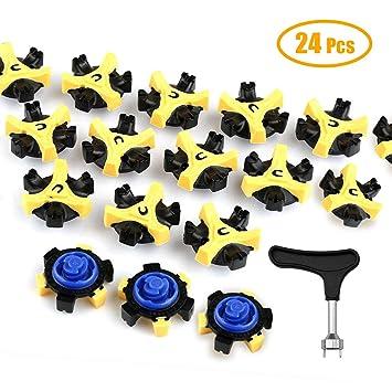 Hangnuo 24 Pcs Golf Shoes Spikes Stud Cleats Pins Tri-lok Fast Twist Well- 7db44367c
